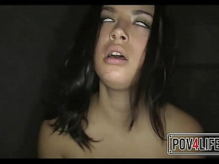 Cute young Teen Orgasms While Riding Cock POV sexvideo.wtf