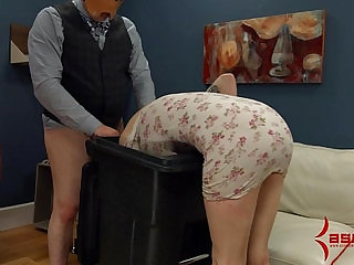 Goth girl hard anal punishment and facefucking in the garbage