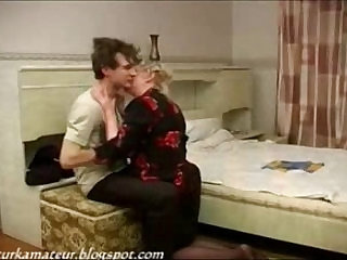 Russian Lady and Boy