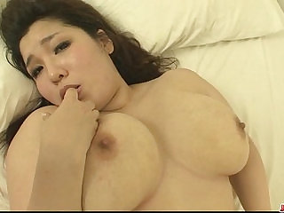 Plump and busty blonde babe Yume Sazanami finger fucked and pussy pounded