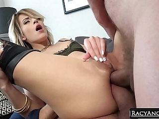 College Czech Blondie Ria Sunn Gets Anal Pounding in Threesome with Ian Scott and Neeo A