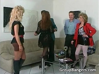 Brutal threesome with hot blonde
