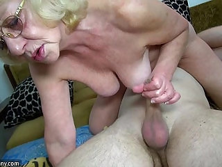HOT Young guy fucking granny with strap on OLDNANNY