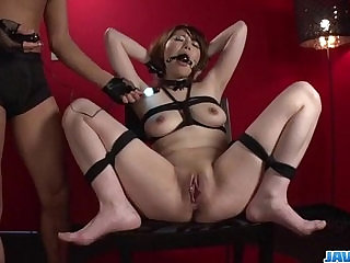 Reika Ichinose enjoys having sex in rough bondage show
