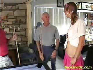 first sexual experience with father and his friend threesome