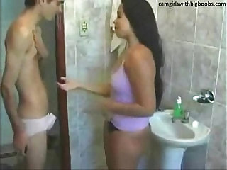 Step brother sister live sex on bathroom found them on sexvideo.wtf