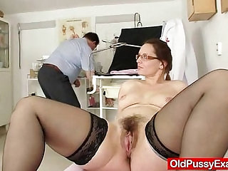 Milf with hairy pussy closeups and real gyno exam