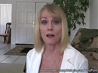 Step mom teaches son about sex