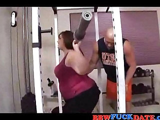 BBW fucked by her sport instructor