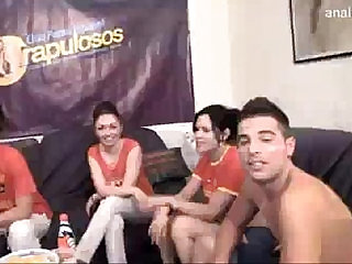 Great spanish football foursome.free vids