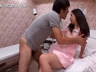 Lustful japanese taking dick from her back