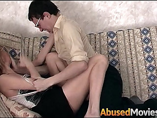Geeky Stepbrother Force Fucking His Stepsister