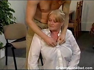 Granny with Soft Tits get Fingered and Fucked