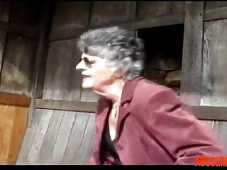 Granny Steph and the Gardener, Free Mature Porn Video sexvideo.wtf