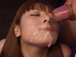 Anri Sonozaki smashing porn play with facial end