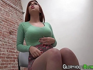 Redhead sucks and tugs