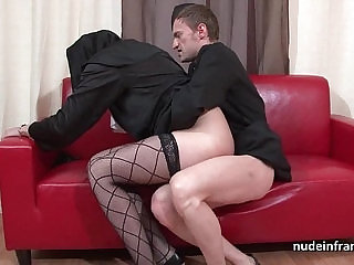 Pretty young french nun deep anal fisted and cum in mouth by the priest