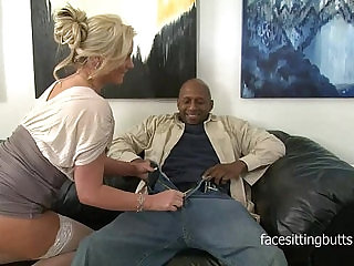 Horny cougar has a thing for huge black cocks