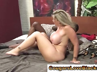 Big tits gets interracial dick