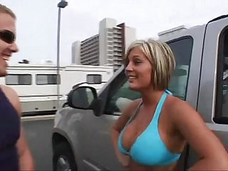 amateur college blonde with tits