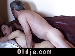 Caught wanking grandpa gets fuck bliss from this girl