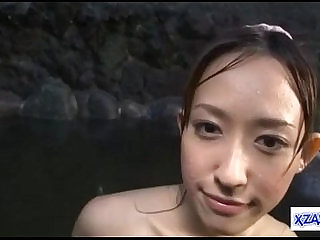 Asian Girl loves Getting Pussy and ass Fucked Cum To Face In The Small Lake Outside