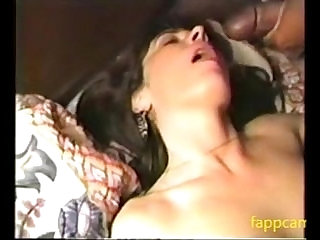 brunette wifes first bbc gangbang