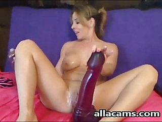 Huge toy for her wide pussy