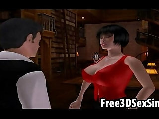 Two sexy 3D cartoon babes getting fucked hard