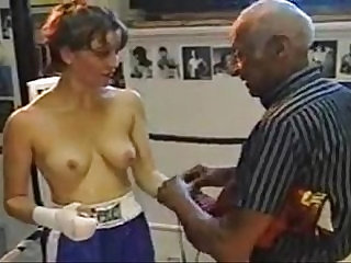Topless boxing with Raven matches