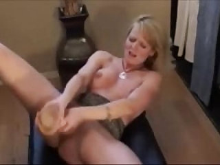 Horny Milf Squirting With a Huge black Dildo