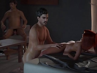 Hentai RedHead Gets her ass Fucked By Pablo Right Infront of Pena NarcosXX