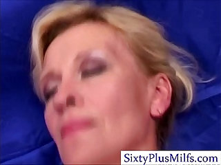 Kinky sexy mature slut lady in 3some