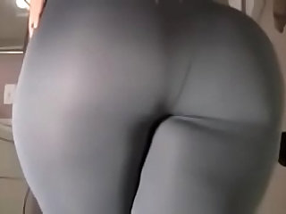 Spicy J yoga pants tear dildo ride