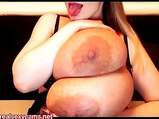 Micky Bells enormous boobs camshow
