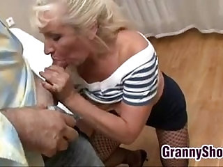 Granny Gets her pussy Pounded In Many Positions