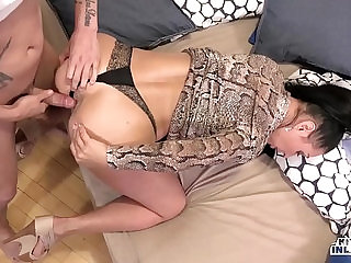 KINKY INLAWS Forbidden anal with Russian MILF Eva Ann and young stepson