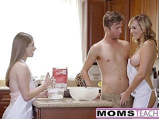 MomsTeachSex Horny Mom Tricks Teen Into Hot Threeway