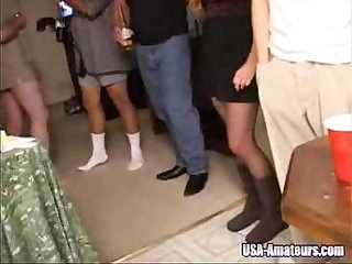 Amateur American Cuckold sessions busty Wife Gangbanged At Private Party By Husbands Friends