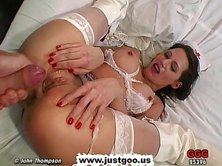 MILF Nurse Viktoria knows the way to relieve all those hard dicks