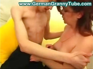 Aunt fucking with younger guy