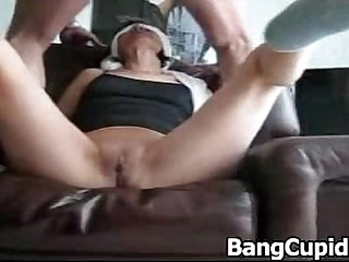 Tied and blindfolded wife gets fucked