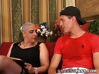 Granny Expereinces Anal With Young Cock