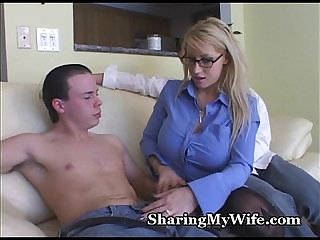Busty Blonde Mommy With Buddy