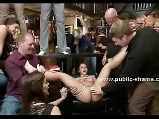 Whore gets used in all her holes