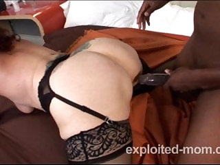 Old granny can barely take a big black cock Interracial Video