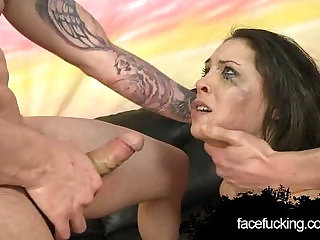 Lola Vaughn Throated By Two Cocks