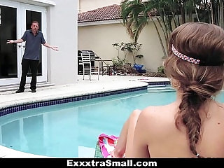 ExxxtraSmall Petite Teen Caught and Fucked by Her Neighbor
