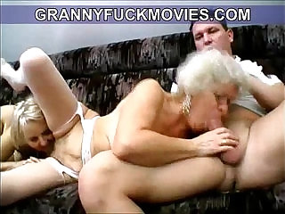 wild horny amateur granny blows young