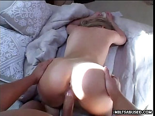 A hot blonde milf is getting fucked by a big hard cock